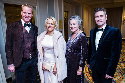 Dan Matthews, Pamela Anderson, Anna Ware, Jack Ryan. PETA's Party for Animals at The Willard on January 19, 2017. Photo by Joy Asico.