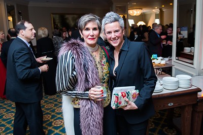 Mary Matalin, Andress Blackwell. PETA's Party for Animals at The Willard on January 19, 2017. Photo by Joy Asico.