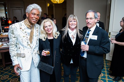 Phil Flowers, Karen Strange, Cassie and Jerry Friedman. PETA's Party for Animals at The Willard on January 19, 2017. Photo by Joy Asico.