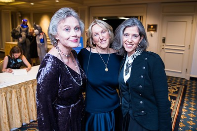 Anna Ware, Ingrid Newkirk, Daphna Nachminovitch. PETA's Party for Animals at The Willard on January 19, 2017. Photo by Joy Asico.