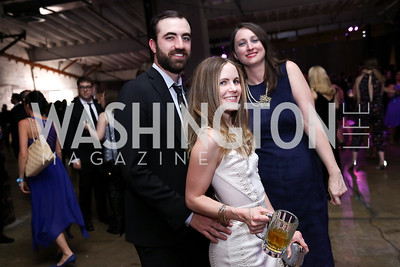 Ian McTiernan, Hanna McClain, Miranda White. Photo by Tony Powell. 2017 Phillips Collection Gala After Party. Union Market. May 19, 2017