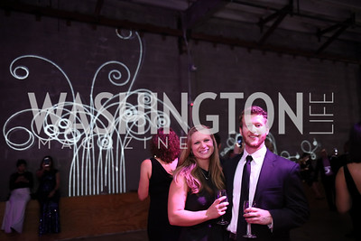 Sean Duncan, Caroline Queen. Photo by Tony Powell. 2017 Phillips Collection Gala After Party. Union Market. May 19, 2017