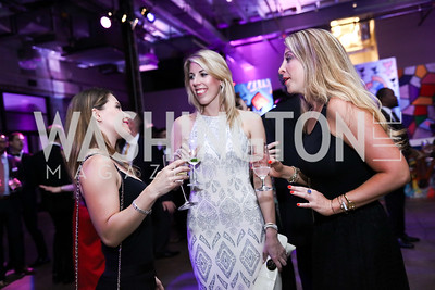 Lauren Hersh, Courtenay Rodonets, Jennifer Epstein. Photo by Tony Powell. 2017 Phillips Collection Gala After Party. Union Market. May 19, 2017
