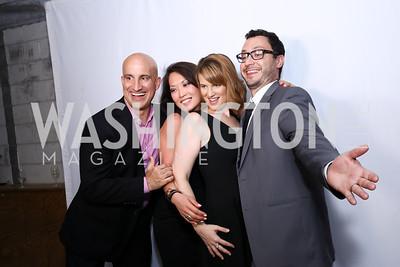 JP Montalvan, KJ Fisher, Olivia Han, Ian Hamos. Photo by Tony Powell. 2017 Phillips Collection Gala After Party. Union Market. May 19, 2017
