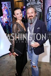 Tatiana Pastukhova, Sandro Keresa. Photo by Tony Powell. 2017 Phillips Collection Gala After Party. Union Market. May 19, 2017