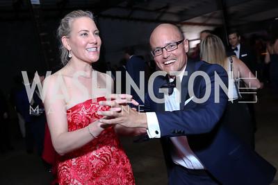Shana Udvardy, Bob Kelly. Photo by Tony Powell. 2017 Phillips Collection Gala After Party. Union Market. May 19, 2017