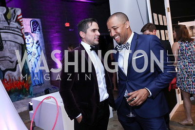 Nick Petersen, Ryan Hayes. Photo by Tony Powell. 2017 Phillips Collection Gala After Party. Union Market. May 19, 2017