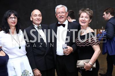 Anita Dahinden, Thomas Krahenbuhl, Switzerland Amb. Martin Dahinden, Dorothy Kosinski. Photo by Tony Powell. 2017 Phillips Collection Gala After Party. Union Market. May 19, 2017