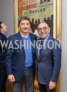 Salo Levinas and brother Dani Levinas. Photo by Tony Powell. Phillips Collection Toulouse-Lautrec Opening. January 31, 2017