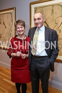 Dorothy Kosinski and Thomas Krahenbuhl,. Photo by Tony Powell. Phillips Collection Toulouse-Lautrec Opening. January 31, 2017