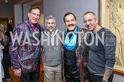Tom Noll, Mark Guenther, Jose Alberto Ucles, Carl Ray. Photo by Tony Powell. Phillips Collection Toulouse-Lautrec Opening. January 31, 2017