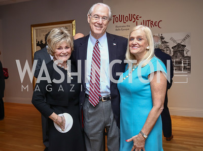 Kitty Kelley, George and Trish Vradenburg. Photo by Tony Powell. Phillips Collection Toulouse-Lautrec Opening. January 31, 2017