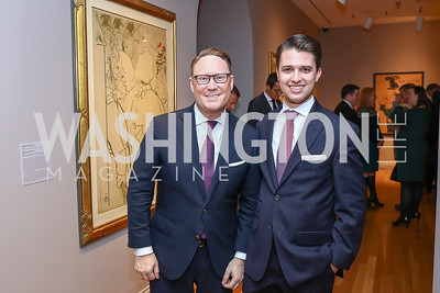 Timothy Lowery, Michael Zingali. Photo by Tony Powell. Phillips Collection Toulouse-Lautrec Opening. January 31, 2017