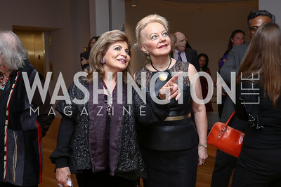 Annie Totah, Carole Margaret Randolph. Photo by Tony Powell. Phillips Collection Toulouse-Lautrec Opening. January 31, 2017
