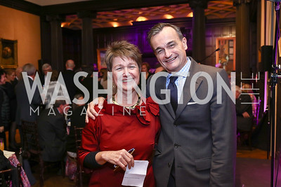 Dorothy Kosinski, France Amb. Gerard Araud. Photo by Tony Powell. Phillips Collection Toulouse-Lautrec Opening. January 31, 2017