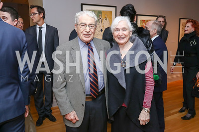 Alan and Irene Wurtzel. Photo by Tony Powell. Phillips Collection Toulouse-Lautrec Opening. January 31, 2017