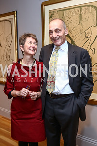Dorothy Kosinski and Thomas Krahenbuhl,. Photo by Tony Powell. Phillips Collection Toulouse-Lautrec Opening. January 31, 2017