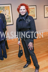 Judy Lynn Prince. Photo by Tony Powell. Phillips Collection Toulouse-Lautrec Opening. January 31, 2017