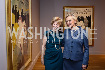 Bitsey Folger, Jill Udall. Photo by Tony Powell. Phillips Collection Toulouse-Lautrec Opening. January 31, 2017