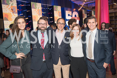 Sarah Badawi, Bill Scher, Adam Green, Courtney Hagen, Michael Moroney, Politico 50 Celebration, Union Market Dock 5, October 12, 2017.  Photo by Ben Droz