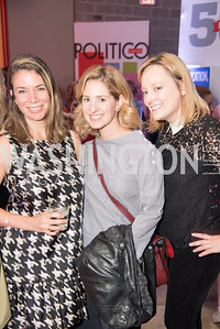 Emily Sternfeld, Marissa Mitrovitch, Anna Palmer, Politico 50 Celebration, Union Market Dock 5, October 12, 2017.  Photo by Ben Droz