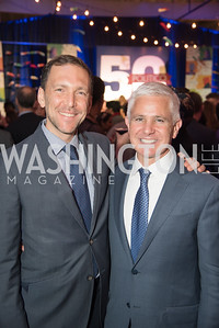 Peter Selfridge, Patrick Steel, Politico 50 Celebration, Union Market Dock 5, October 12, 2017.  Photo by Ben Droz