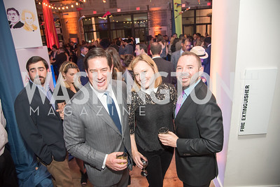Andrew Kovalcin, Anna Palmer, Micah Spangler, Politico 50 Celebration, Union Market Dock 5, October 12, 2017.  Photo by Ben Droz