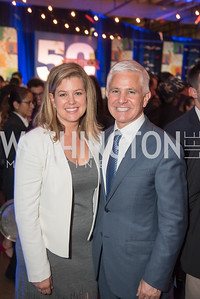 Brianna Keilar, Patrick Steel, Politico 50 Celebration, Union Market Dock 5, October 12, 2017.  Photo by Ben Droz