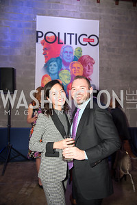 Jill Nguyen, Micah Spangler, Politico 50 Celebration, Union Market Dock 5, October 12, 2017.  Photo by Ben Droz