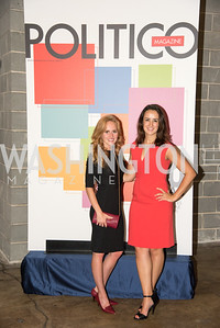 Megan Swiatkowski, Shannon Ryan, Politico 50 Celebration, Union Market Dock 5, October 12, 2017.  Photo by Ben Droz