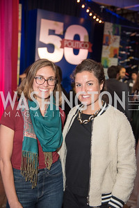 Tajha Chappellet-Lanier, Rebecca Yarborough, Politico 50 Celebration, Union Market Dock 5, October 12, 2017.  Photo by Ben Droz