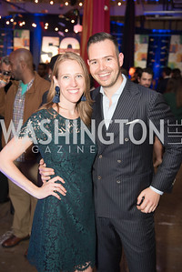 Mallory Bucher, Brad Bosserman, Politico 50 Celebration, Union Market Dock 5, October 12, 2017.  Photo by Ben Droz