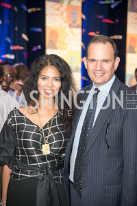Christina Sevilla, Steve Rochlin,  Politico 50 Celebration, Union Market Dock 5, October 12, 2017.  Photo by Ben Droz