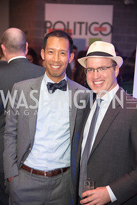 Ben Chang, Jeff Mason, Politico 50 Celebration, Union Market Dock 5, October 12, 2017.  Photo by Ben Droz