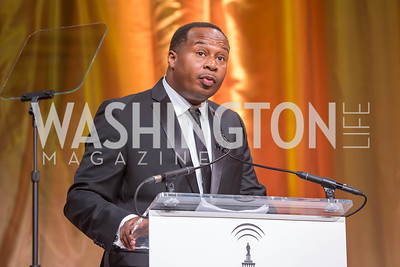 Roy Wood, Jr. Photo by Pixelme Studio and the Radio & Television Correspondents' Association. Radio and Television Correspondents' Association Dinner. National Building Museum. October 25, 2017.