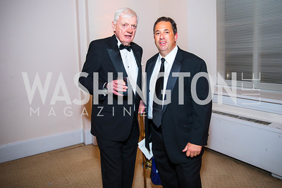 Dave McConnell, Mike Mastrian. Photo by Alfredo Flores. Radio and Television Correspondents' Association Dinner. National Building Museum. October 25, 2017.