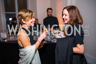 Leah Beardslee, Kim Oates. Photo by Alfredo Flores. Radio and Television Correspondents' Association Dinner. National Building Museum. October 25, 2017.