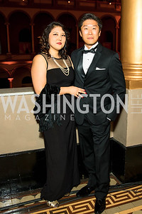 Catherine Ahn, John Yune. Photo by Alfredo Flores. Radio and Television Correspondents' Association Dinner. National Building Museum. October 25, 2017.