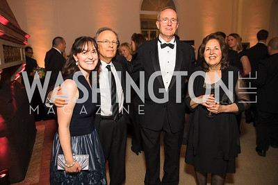 Chris Shine, Tom Shine, Peter Doherty, Mary Shine. Photo by Alfredo Flores. Radio and Television Correspondents' Association Dinner. National Building Museum. October 25, 2017.
