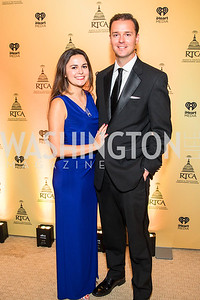 Sally Rey Parkinson, John Parkinson, . Photo by Alfredo Flores. Radio and Television Correspondents' Association Dinner. National Building Museum. October 25, 2017.