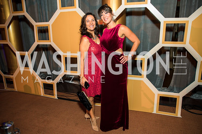 Joann Sierra, Shannon Gillece. Photo by Alfredo Flores. Radio and Television Correspondents' Association Dinner. National Building Museum. October 25, 2017