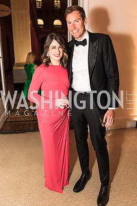 Ali Rogin, Brendan Buck. Photo by Alfredo Flores. Radio and Television Correspondents' Association Dinner. National Building Museum. October 25, 2017.