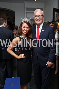 Miss America Cara Mund, Rep. Kevin Cramer. Photo by Tony Powell. Reception Honoring Miss America 2018. September 27, 2017