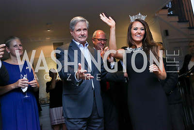 North Dakota Sen. John Hoeven, Miss America Cara Mund. Photo by Tony Powell. Reception Honoring Miss America 2018. September 27, 2017