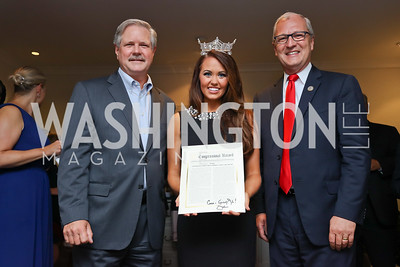 North Dakota Sen. John Hoeven, Miss America Cara Mund, Rep. Kevin Cramer. Photo by Tony Powell. Reception Honoring Miss America 2018. September 27, 2017