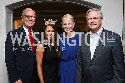 Rep. Kevin Cramer, Miss America Cara Mund, Karen Knutson, North Dakota Sen. John Hoeven. Photo by Tony Powell. Reception Honoring Miss America 2018. September 27, 2017