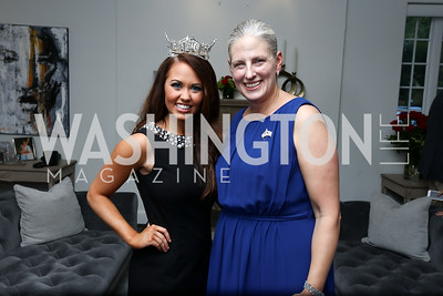 Miss America Cara Mund, Karen Knutson. Photo by Tony Powell. Reception Honoring Miss America 2018. September 27, 2017