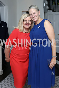Gloria Dittus, Karen Knutson. Photo by Tony Powell. Reception Honoring Miss America 2018. September 27, 2017