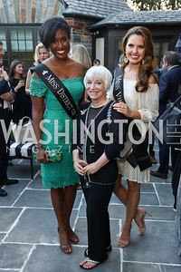 Miss D.C. Briana Kinsey, Elaine Rogers, Miss Virginia Cecili Weber. Photo by Tony Powell. Reception Honoring Miss America 2018. September 27, 2017