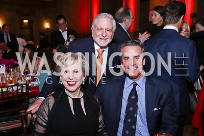 Lisa Barry, Jim Gale, Stuart Holliday. Photo by Tony Powell. RI 38th Anniversary Dinner. Mellon Auditorium. April 25, 2017